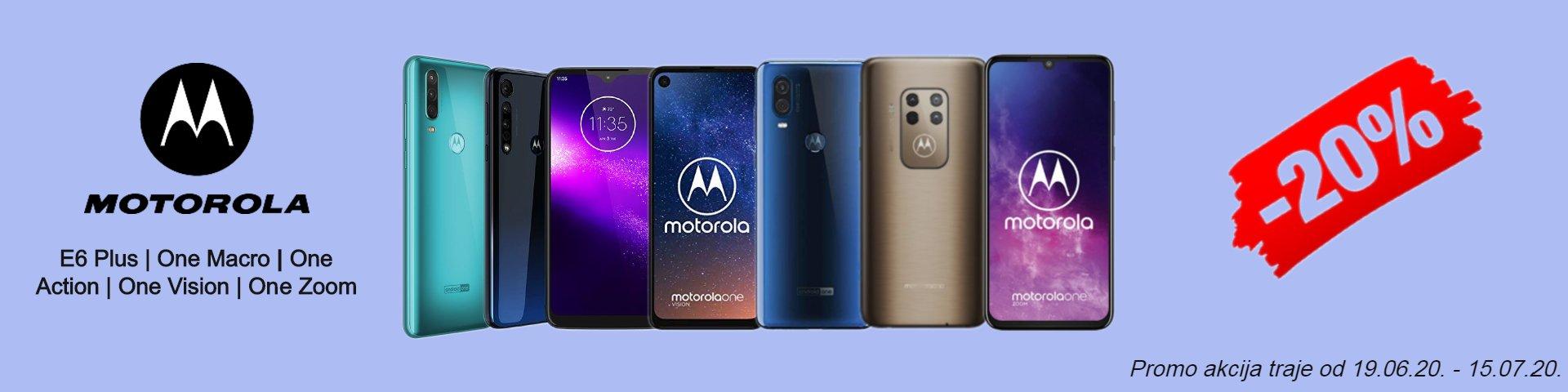 Motorola promo akcija 19.06.20. - 15.07.20.