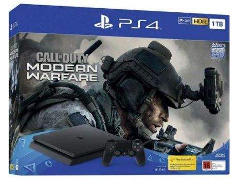 PlayStation 4 1TB chassis Black + Call of Duty: Modern Warefare 2019