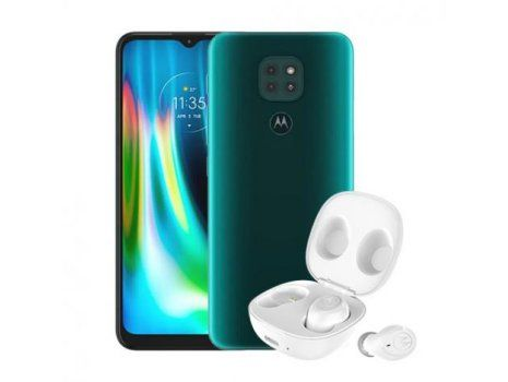 Motorola Moto G9 Play 4/64 GB, Forest Green + Motobuds Charge BT slušalice
