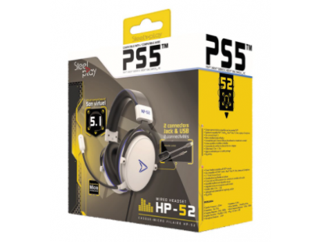 Wired headset 5.1 virtual sound - HP52 - white (multi) Steelplay (Promo akcija 12.04.2021. -  09.05.2021.)
