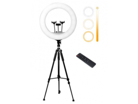 Ring light NEON HEMERA RL-21  (54cm), LED + profi stativ za ring light/fotoaparat, daljinski
